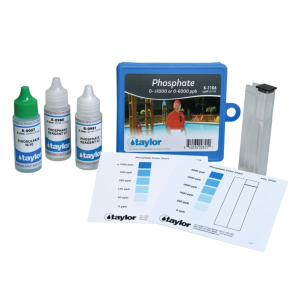 Color Card Comparator, Phosphate, Stannous Chloride, 0- ≥1000 or 0-6000 ppb (.75OZ) (#7 +0980+0981)